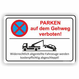 PV-059 PARKEN AUF DEM GEHWEG verboten!