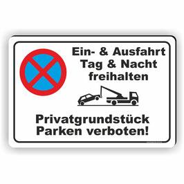 PV-009 Parkverbotschild Privatgrundstück Betreten verboten!