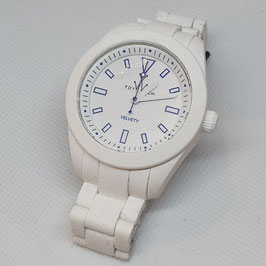 ONLY TIME VELVETY WHITE TOY WATCH