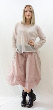 pullover a-linie rose und grau
