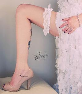 jarretière mariée dentelle blanche
