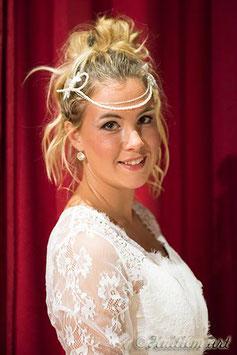 headband mariage empire ivoire