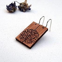 Les Inséparables - boucles d'oreille en bois recyclé