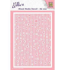 """Schablone """"Lines & Bubbles"""" - Nellie Choice"""