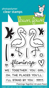 "Clearstamps ""Flamingo Together"" - Lawn Fawn"