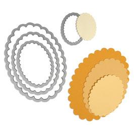 Framelits Schablonen-Set Scallop Ovals - Sizzix