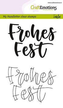 "Clearstamp ""Handletter - Frohes Fest"" - CraftEmotions"