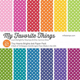 Tiny Hearts Brights 6x6 Paper Pack  - My Favorite Things