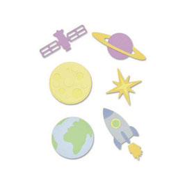 "Thinlits Die Set ""Space"" - Sizzix"