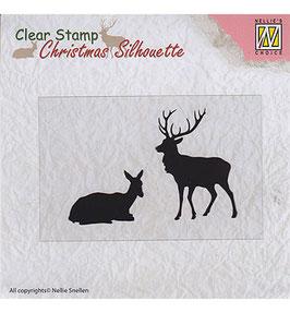 "Clearstamp ""Christmas Silhouette Reindeer"" - Nellie's Choice"