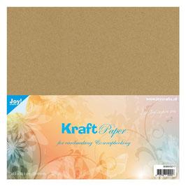 Cardstock glatt, 20 Blatt, Kraft Light - Joy!Crafts