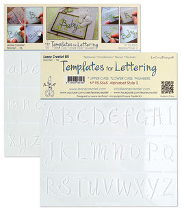 "Schablone ""Lettering Alphabet #2"" - Leane Creatief"