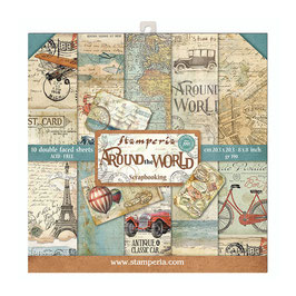 Around The World 8x8 Paperpad - Stamperia