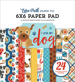 I Love My Dog 6x6 Paperpad - Echo Park