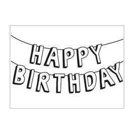 """Prägeschablone """"Birthday Banner"""" - Darice"""
