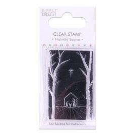 "Clearstamp ""Nativity Scene"" - Simply Creative"