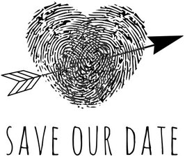 "Holzstempel ""Save Our Date"" - Aladine"