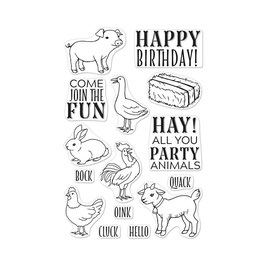 "Clearstamps ""Hay Party Animals"" - Hero Arts"