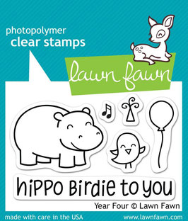 "Clearstamp ""Year Four"" - Lawn Fawn"