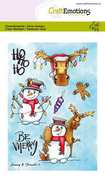 """Clearstampset """"Snowy & Friends #1"""" - CraftEmotions"""