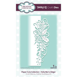 """Stanzschablone """"Papercuts Holly Berry Edger"""" - Creative Expressions"""