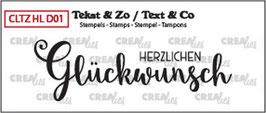 """Clearstampset """"Handlettering Herzlichen Glückwunsch"""" - Crealies"""