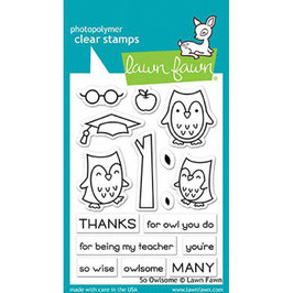 "Clearstamp-Set ""So Owlsome"" - Lawn Fawn"