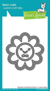 """Stanzschablone """"Outside In Stitched Flower"""" - Lawn Fawn"""