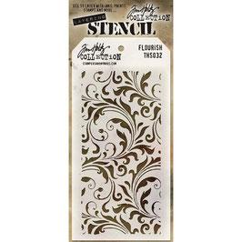 """Layered Stencil """"Flourish"""" - Tim Holtz"""