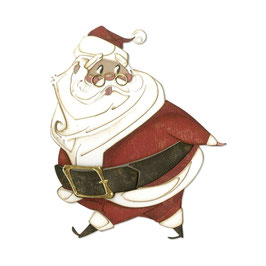"Thinlits Die Set ""Jolly St. Nick"" - Sizzix"