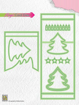 "Special Die Card ""Magic Pine Tree"" - Nellies Choice"