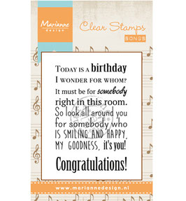 Song: Today is a birthday - Marianne Design