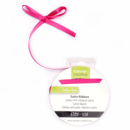Satinband 6mm, Pink