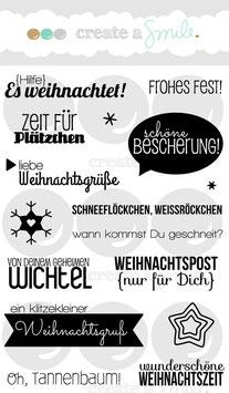 "Stempelset ""Schöne Bescherung"" - Create A Smile"