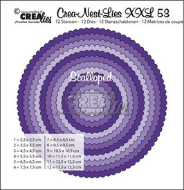 "Crea-Nest-Lies XXL #53 ""Scalloped Circles"" - Crealies"