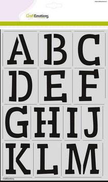 """Schablone """"Alphabet"""" - CraftEmotions"""