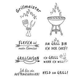 """Clearstamps """"Grillmeister"""" - EFCO"""