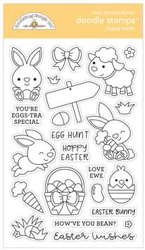 """Clearstamp """"Hoppy Easter Doodle Stamps"""" - Doodlebug"""