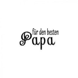 """Holzstempel """"Für den besten Papa"""""""