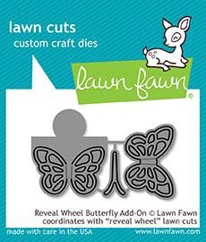 Reveal Wheel Butterfly Add-on Die - Lawn Fawn