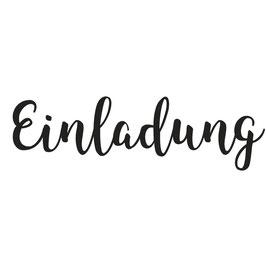 """Holzstempel """"Einladung"""""""