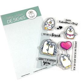 """Clearstampset """"Valentine Penguins"""" - Gerda Steiner Designs"""