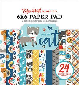 I Love My Cat 6x6 Paperpad - Echo Park