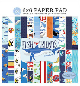 Fish Are Friends 6x6 Paperpad - Carta Bella