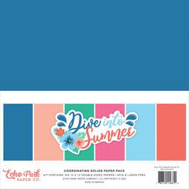 Dive Into Summer 12x12 Coordinating Solids  - Echo Park