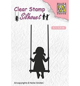 "Clearstamp ""Silhouette Swinging"" - Nellies Choice"