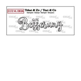 "Clearstampset ""Handlettering Gute Besserung (outline)"" - Crealies"