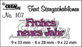 Stanzschablone - Frohes neues Jahr - Crealies