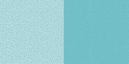 Punkte und Blumen, Lagunenblau - Dini Design
