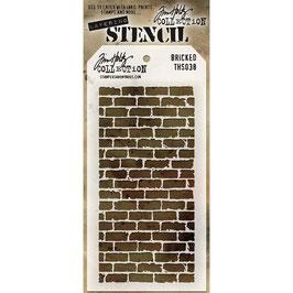 """Layered Stencil """"Bricked"""" - Tim Holtz"""